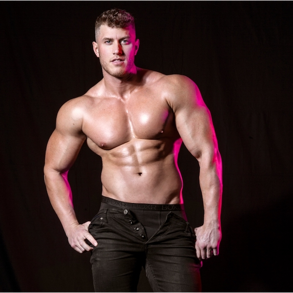 male strippers from the Dreamboys male strip club | James Shenton