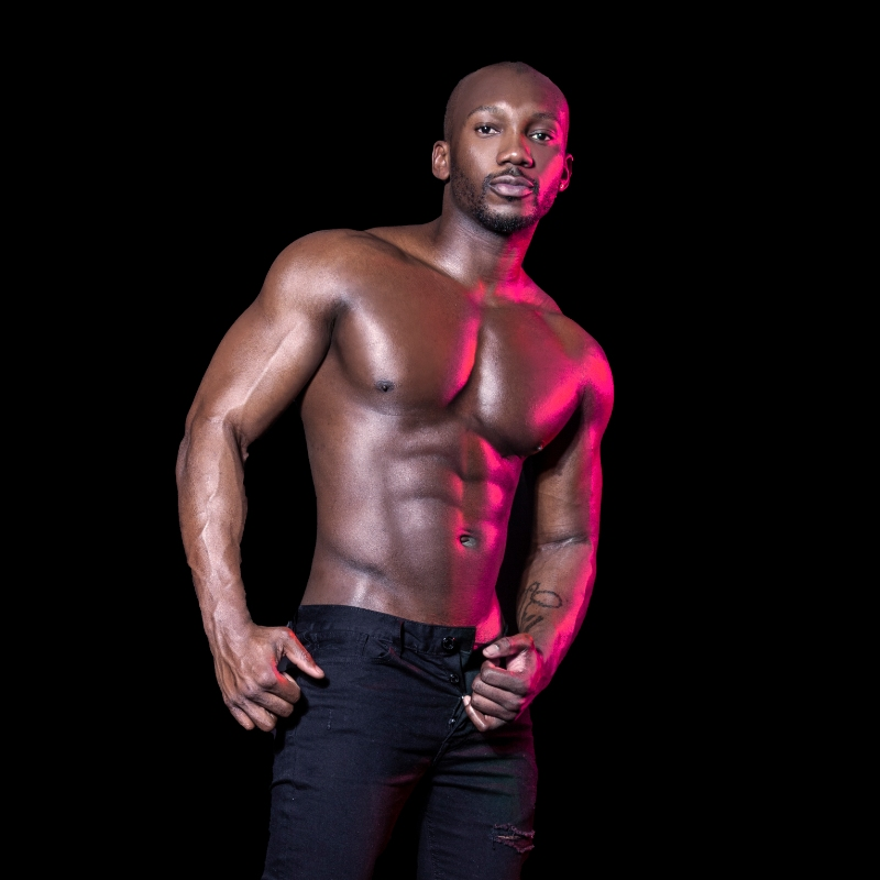 male strippers from the Dreamboys male strip club | Victor Anozie