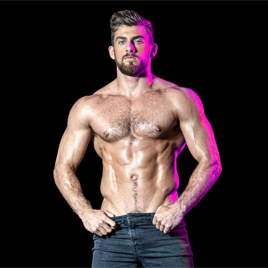 male strippers from the Dreamboys tour Zac Smith